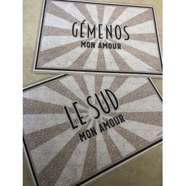 Set rectangle PVC Gémenos mon Amour