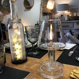 Lampe à huile forme lampe de table