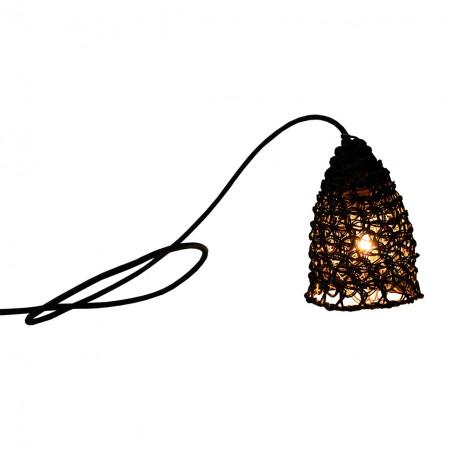 Lampe baladeuse en double fils de papier tressé