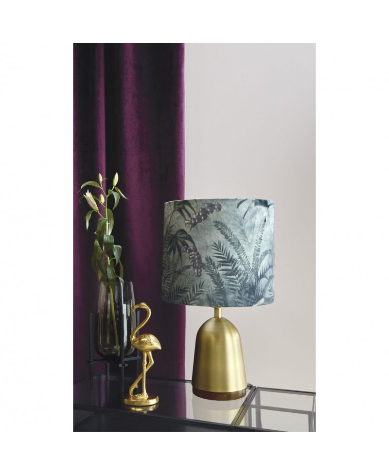 lampe de salon en m tal dor et abat jour jungle beau m store. Black Bedroom Furniture Sets. Home Design Ideas