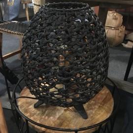 Veilleuse en cordes de papier recyclé