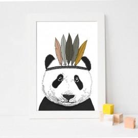 Affiche A4 Panda Indien - Minimel