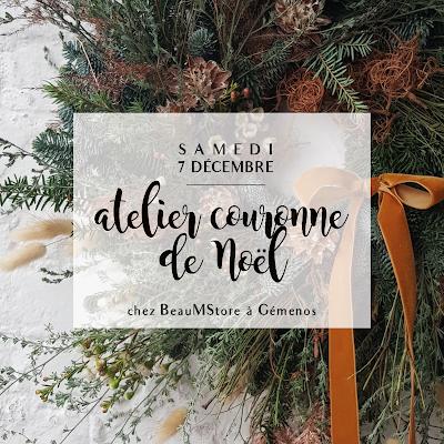 Atelier Créatif Couronne de Noël Beau M store Décembre 2019